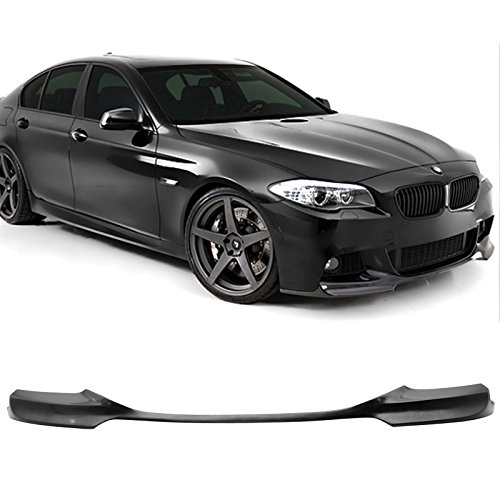 - Front Bumper Lip Fits 2011-2016 BMW F10 5 Series | V Style PU Black Front Lip Spoiler Splitter by IKON MOTORSPORTS