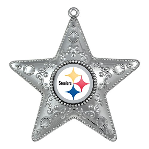 NFL Pittsburgh Steelers Silver Star Ornament, Small, Silver]()