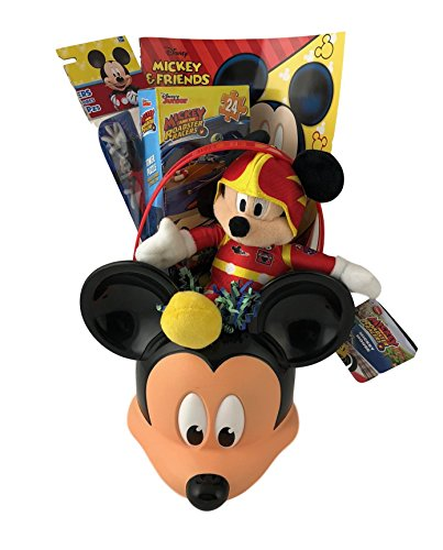Valentine Gift for Kids Little Boys Mickey Roadster Prefilled Toy Basket Ages 5 to 10