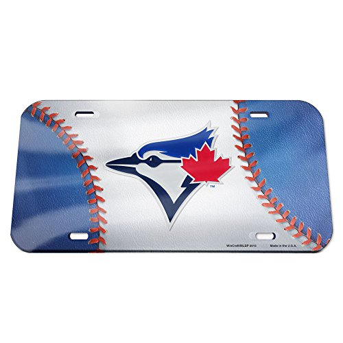 WinCraft MLB Toronto Blue Jays Crystal Mirror Baseball License Plate, Team Color, One Size