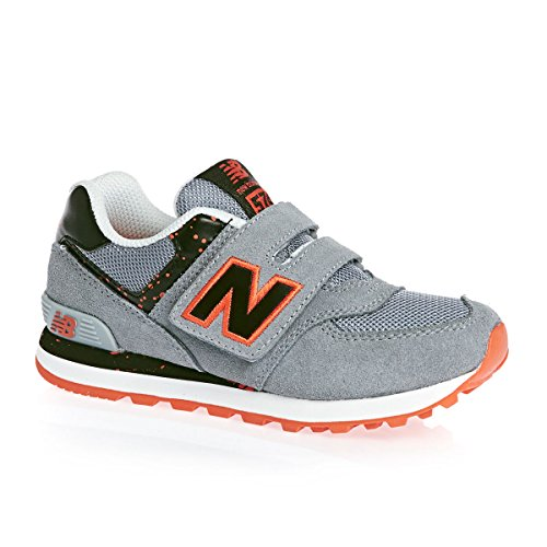 Baskets 574 Velcro New Balance - Gris/Orange