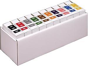 Smead DCCRN Numeric Color-Coded Numeric Labels, Numbers 0-9, Assorted Colors, 5000 Labels per Box (67350),Medium