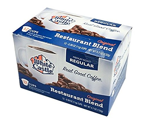 6 Boxes of 12 White Castle Restaurant Blend Coffee K-cups Medium Roast by White Castle