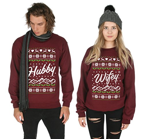 Sanfran , Hubby Wifey Xmas Matching Christmas Top Ugly His Hers Jumper  Sweater