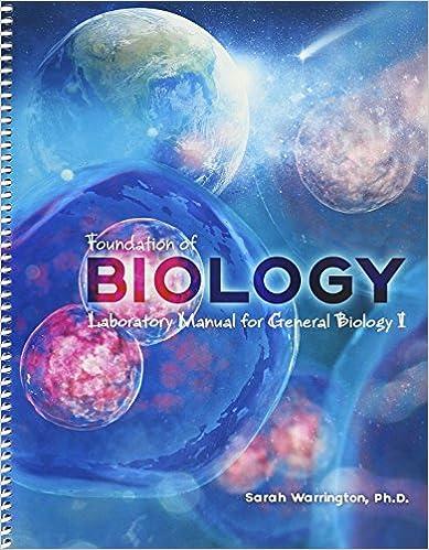 Amazon 1 foundation of biology laboratory manual for general 1 foundation of biology laboratory manual for general biology i 1st edition fandeluxe Gallery