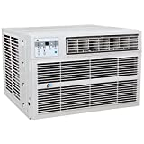 Perfect Aire 3PACH8000 8,000 BTU Window Air Conditioner with Electric Heater, 300-350 Sq. Ft. Coverage