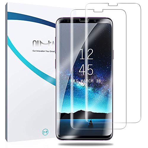 Screen Protector Galaxy S9 Plus, 2-Pack QiMai Case Friendly Easy Install Screen Cover (Not Glass) [Upgraded Version]