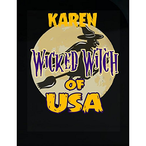 Prints Express Halloween Costume Karen Wicked Witch of USA Great Personalized Gift - Sticker]()