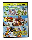 Planet 51 / The Pirates Band Of Misfits / Surf's Up - all 3 full feature animated movies