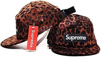 Supreme 5 Panel leopardo Clean Up gorra ajustable sombrero, talla ...