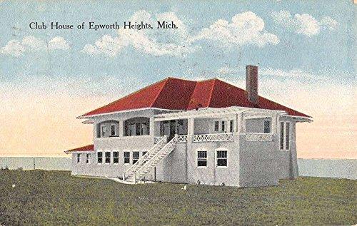 Epworth Heights Michigan Club House Street View Antique Postcard K49411