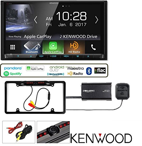 Kenwood Excelon DDX9904S with Apple CarPlay Android Auto Bluetooth SiriusXM Satellite Radio Vehicle Tuner Kit Replaced SXV300v1 And Backup Camera