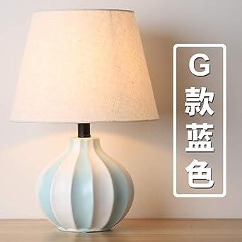 de dormitorio Lámpara de simple estar de cerámica mesa sala shQdrCt