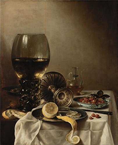 The High Quality Polyster Canvas Of Oil Painting 'Pieter Claesz,Still Life,1638' ,size: 8x10 Inch / 20x25 Cm ,this Best Price Art Decorative Prints On Canvas Is Fit For Gift For Bf And Gf And Home Artwork And Gifts (Halloween Themed Math Printables)