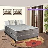 Spinal Solution Luxury Collection Fully Assembled Orthopedic 10 Pillowtop Eurotop Mattress & Box Spring with Frame, Full