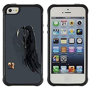Hybrid Anti-Shock Defend Case for Apple iPhone 5 5S / Squirrel & Death