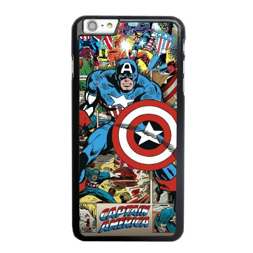 Coque,Apple Coque iphone 6 6S (4.7 pouce) Case Coque, Marvel Comics Captain America Phone Case Cover for Apple Coque iphone 6 6S (4.7 pouce) Noir Plastic Ultra Slim Cover Case Cover
