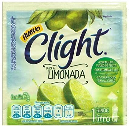 Amazon.com : Clight Powdered Drink Mix (Pack of 18) (Te con Limon) with Tesadorz Resealable Bags : Grocery & Gourmet Food