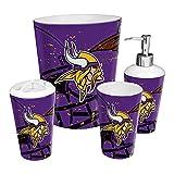 The Northwest Company Minnesota Vikings NFL 4 Piece Bathroom Decorative Set (Scatter Series)