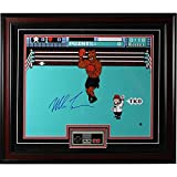 Mike Tyson Signed Framed Punch-Out Photo with Nintendo Controller (23x27 Frame)