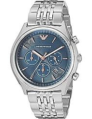 Emporio Armani Mens AR1974 Dress Silver Quartz Watch
