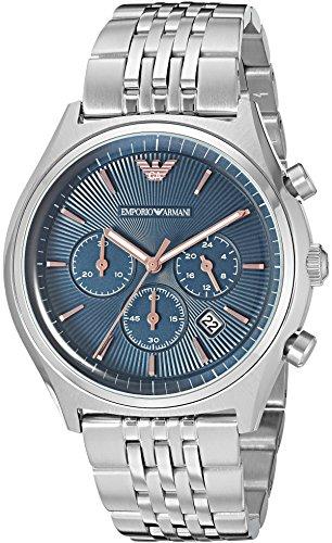 Emporio Armani Men's AR1974 Dress Silver Quartz Watch
