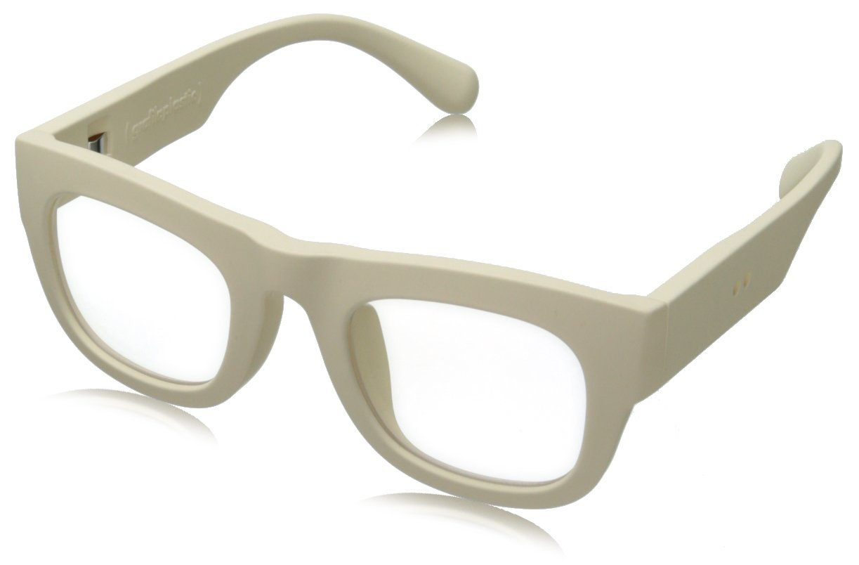 grafik:plastic Arron Wayfarer Eyeglasses,Off White & Clear,51 mm by grafik:plastic