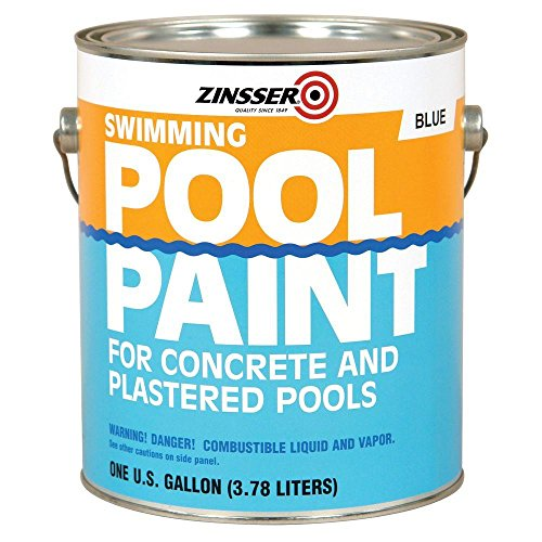 (1-gal. Flat Oil-Base Blue Swimming Pool Paint (4-Pack))