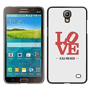 LECELL--Funda protectora / Cubierta / Piel For Samsung Galaxy Mega 2 -- el amor es todo lo que necesita de carteles letras de color rojo --