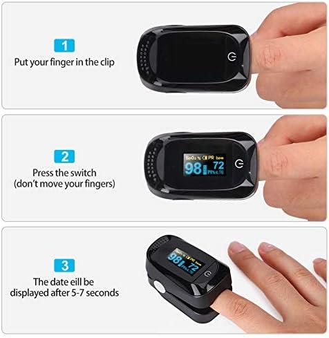 Haofy Oxímetro de Pulso, Pulsioxímetro de Dedo Monitor de Frecuencia Cardíaca y la Saturación de Oxígeno en la Sangre con Pantalla OLED, Aprobado por la FDA y la CE 9