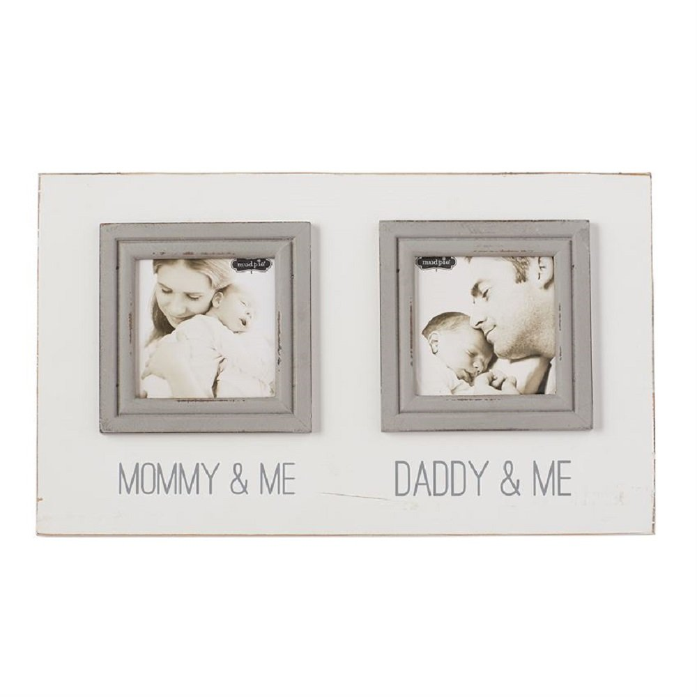 Mommy Daddy Double Frame. Baby Shower Gift, 8'' x 12 1/2''. by MP001