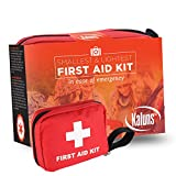"First Aid Kit, ""Smallest & Lightest"" with 106 Essential Items, Car Survival Kit, for Emergency Medical Care, Complete Kit Perfect for Home Office School Car Backpack and Travel, Camping First Aid Kit,"