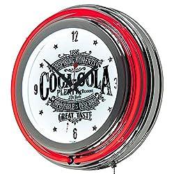 MISC 1886 Coke Clock Wall Style Coca-Cola Classic Neon Ring Unique Vintage Collactable Clocks