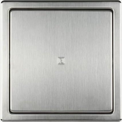 Haco - Tapa para revisión (acero cepillado, con marco de montaje, 150 x 150 mm)
