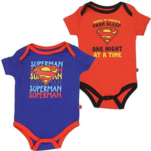 Creeper Set 1 (Superman Baby Boys 2-Pack Creeper Set, 0-3 Months)