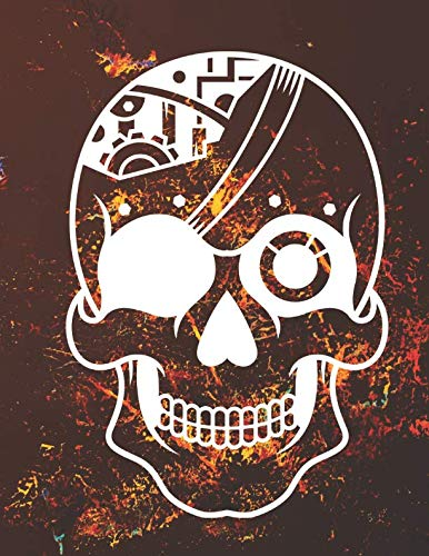 Composition Book: Sugar Skull English Language Exercise Book for Writing (Wide Lined) 200 pages 8.5*11 -