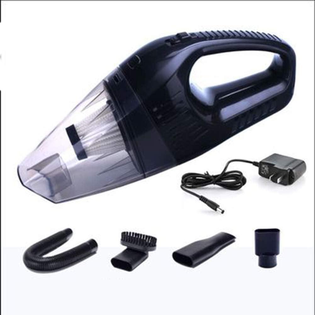 Aspirador Inalámbrico Recargable, Aspiradora Portátil,4000PA 12V 100W Aspirador Potente Ciclón, Húmedo Y Seco, Adecuado para Uso Doméstico Y Mascotas,Black