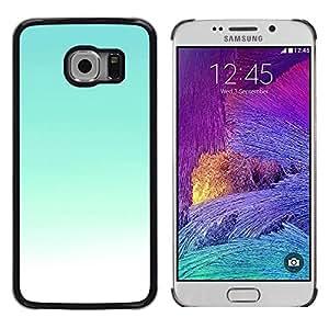Be Good Phone Accessory // Dura Cáscara cubierta Protectora Caso Carcasa Funda de Protección para Samsung Galaxy S6 EDGE SM-G925 // Sky Bright Teal White Sky Sunny Summer
