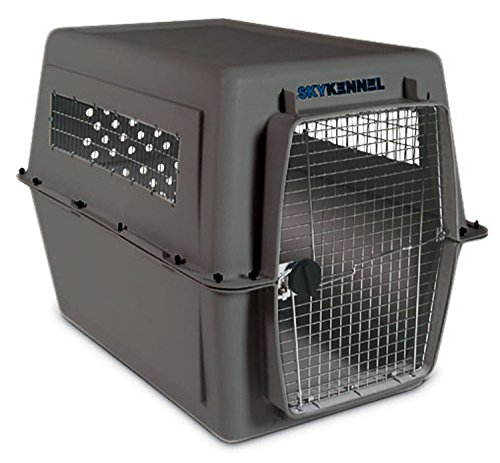 Petmate Sky Kennel for Pets from 90 to 125-Pound, Light Gray (Crate Large 48 Extra Dog)