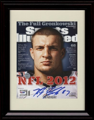 Framed Rob Gronkowski Sports Illustrated Autographレプリカ印刷   B01N91HDID