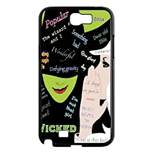 YUAHS(TM) Customized Hard Back Phone Case for Samsung Galaxy Note 2 N7100 with Musical Wicked YAS959883