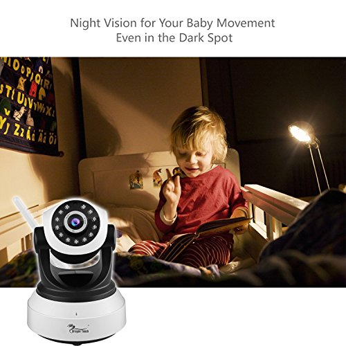 Dragon Touch SMART ONE HD 960P Wireless Baby Monitor Pan/Tilt Wifi IP Camera Video Recording Play/Plug Night Vision Motion Detection Two way Audio