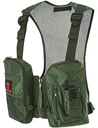 Military Hunting Fishing Adjustable Mesh Vest for Summer Chest Front Bag