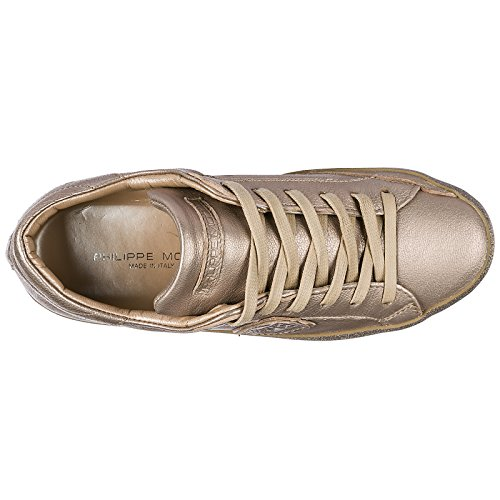 Glitter Paris Sneakers Femme En Philippe Model Cuir Baskets Chaussures 4tqI80R