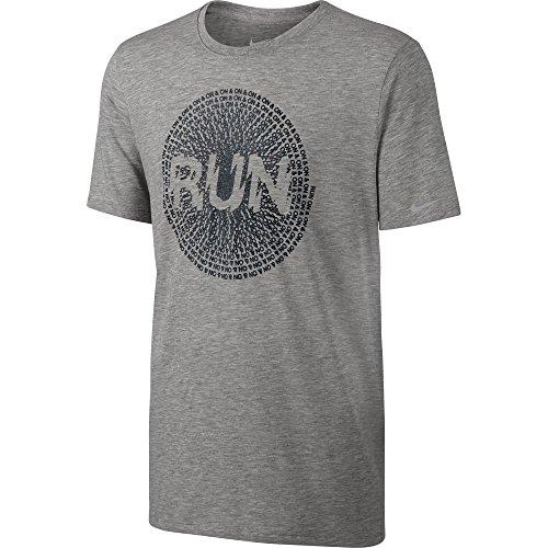 Camiseta sin mangas Nike para hombre Run on & on Grey Heather / Negro 778349-063 Tama?o 2X-Grande