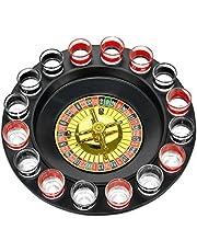 Fairly Odd Novelties Shot Glass Roulette - Drinking Game Set (2 Balls and 16 Glasses)
