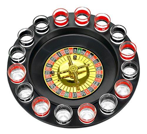 Fairly Odd Novelties FON-10046 Shot Glass Roulette Complete Set drinking game, 16PCS, Red/Black