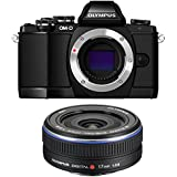 Olympus OM-D E-M10 Mirrorless Digital Camera (Black) Body only V207020BU000 + Olympus M.Zuiko 17mm Lens (Black) 261564
