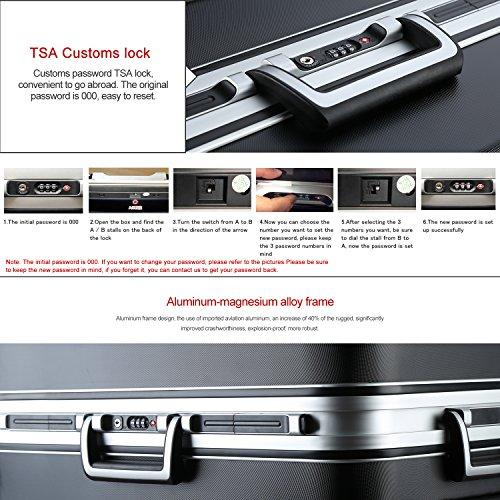 Amazon com   Unitravel Luggage Rolling Suitcase Lightweight