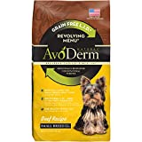 AvoDerm Natural Revolving Menu Small Breed Beef Recipe Dry Dog Food, 4-Pound